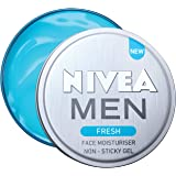 NIVEA Men Fresh Face Moisturizer Gel, Non Sticky & Light Moisturization, 30 Ml, 30 ml