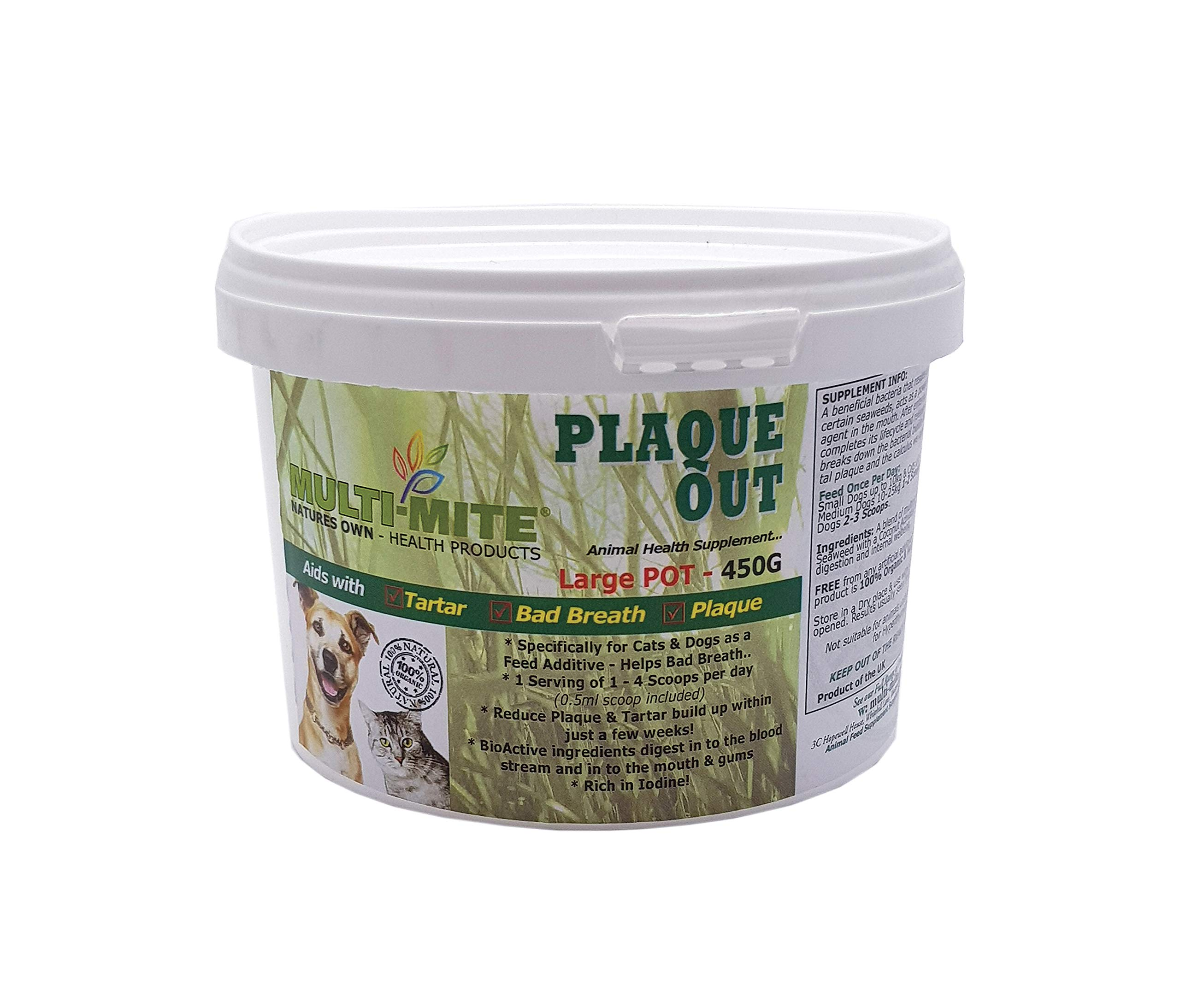 PLAQUE OUT® – Dog & Cat Plaque Off & Tartar Removal 450g PACK – Multi-Mite® …