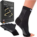 FIT NATION Plantar Fasciitis Support Socks for Weak Ankles, Arches, Heels (2 PAIRS) Ultimate Compression Sleeves For Your Ach