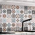KINLO Tegelstickers(0.61 x 5 m Type B) Zelfklevende Mozaïektegels Behang voor Badkamer en Keuken, PVC Tegelstickers Wandtegel