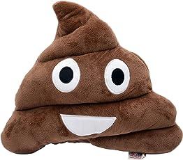 Store2508TM Soft Smiley Emoticon Emoji Cushion Poop Pillow Stuffed Plush Toy (Choc Brown Design A)