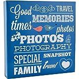 Arpan Ring Binder Slip In Photo Album holds 500 6×4 / 10×15 cm photos - Blue by ARPAN
