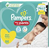 Pampers New Extra Small Size Diapers Pants  86 Count