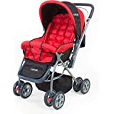 Luvlap Starshine Stroller/Pram, Easy Fold for Newborn Baby/Kids, 0-3 Years (Red) (18135)