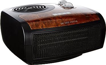 Usha Fan Heater (1212 PTC) 1500-Watt with Adjustable Thermostat (Black/Brown)