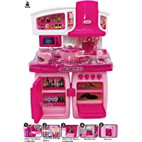 Toyify Playing Toys for Girls Kitchen Set with Sound and Light 2 Compartment Modular Kitchen Set Toy ( Gift / Role Play…