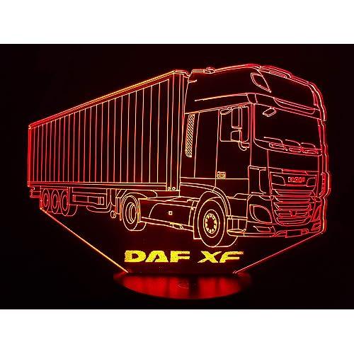 DAF XF camion, Lampada illusione 3D con LED - 7 colori.