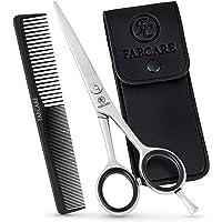 FABCARE Profi Haarschere mit Kamm und Etui - Haarschneideschere mit Mikroverzahnung & Präzisionsschraube - 5,5 Zoll…
