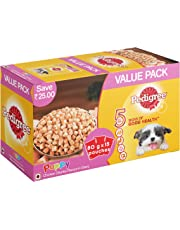 Pedigree Puppy Wet Dog Food, Chicken Chunks in Gravy, 15 Pouches (15 x 80g)