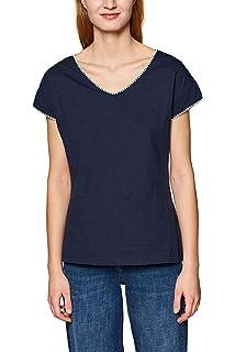 ESPRIT Damen 029EE1K047 T Shirt, Blau (Navy 400), X Small