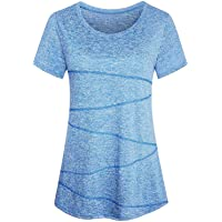 iClosam Maglietta Sportiva Donna Maniche Corte Traspirante Rapida Asciugatura Running Fitness Yoga Top Tee T-Shirt