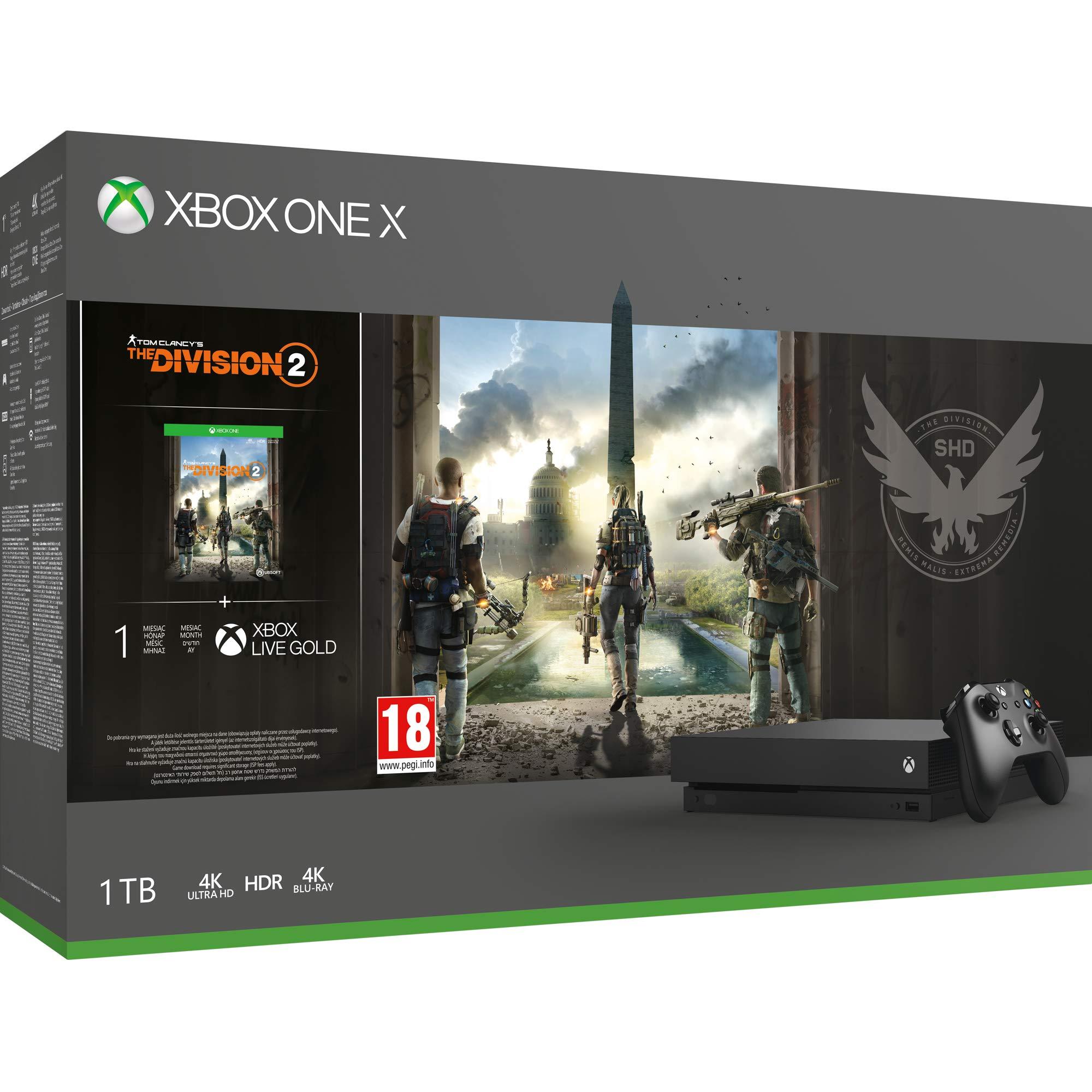Microsoft Xbox One X – Consola 1 TB + División 2