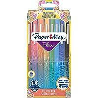 Paper Mate 2061394 Lot de 16 Flair stylo, pointe moyenne 1,1 mm, Assortiment de couleurs