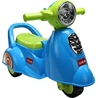 Luvlap - 18518 Wheelie Scooter Ride On for Kids, Battery Operated Music & Light, 12 Months + (Blue)