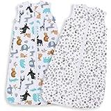 Lictin Baby Sleeping Bag 0.5 Tog - Baby Wearable Blanket Sleeping Sack Baby 2pcs Baby Swaddle Sack Blanket Sack with…