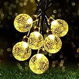 Fulighture String Lights, 24ft 30 LED Waterproof Crystal Ball Decorative Lights Indoor Outdoor Fairy Lights for Festival Cele