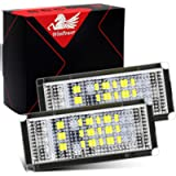 WinPower Error Free LED License Number Plate Light Assembly Cool White Lamps Bulb Compatible with BMW 3 Series E46 4D…