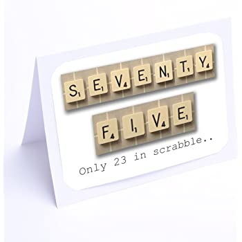 Birthday Cards Scrabble 75th Card