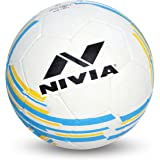 Nivia 1361AR Rubber Country Colour Molded Football, Size 3  White