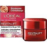 L'Oréal Paris Revitalift crème Rouge ansiktskräm med röd ginseng, upplödande fuktighetskräm med ljuseffekt, mot rynkor och ög