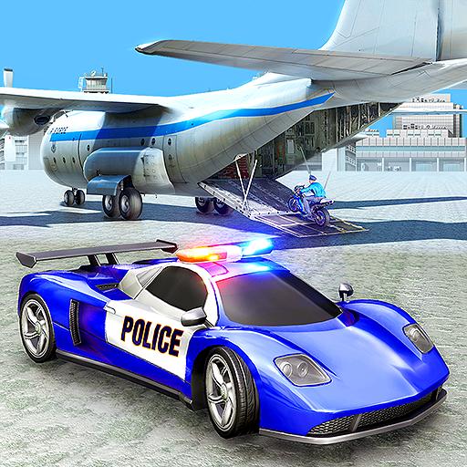 Uns Polizei Frachtflugzeug Simulator 2019: Schwere Anhänger Truck Tycoon Polizeiwagen Transporter Simulator Mania Abenteuer frei für Kinder -