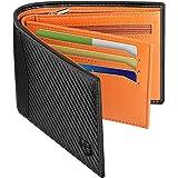Mens Wallet, BIAL RFID Blocking Wallet Bifold Leather Wallets Mens, Mens Slim Wallet with ID Window Zip Coin Pocket 9 Card Ho
