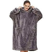 Tuopuda Sweat à Capuche Femme Couverture Polaire Doux et Chaud Pull Geant Manche Longue Sweatshirt Pullover Hoodie…