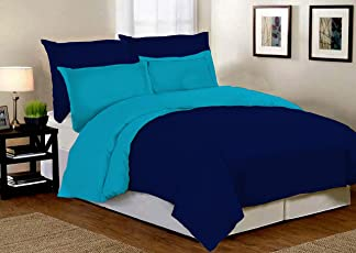 Desirica Soft Light Weight Microfibre Reversible Double Quilt Duvet (Blue, DBQ008)