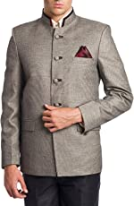Wintage Men's Linen Blended Bandhgala Festive Nehru Mandarin Blazer- Two Colors Available