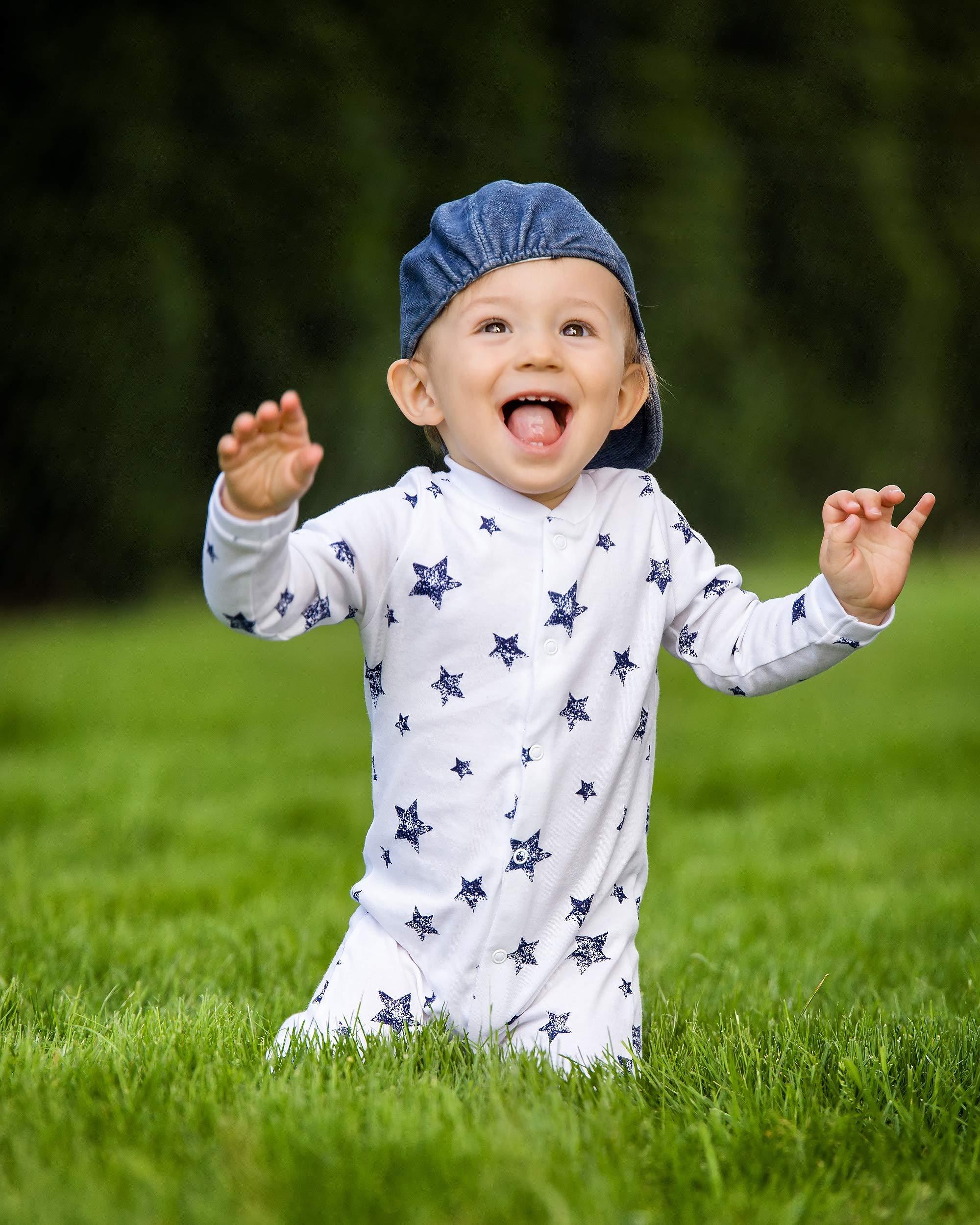 Sibinulo Niño Niña Pijama Bebé Pelele de Algodón- Tamaños 56-74 - Pack de 3 8