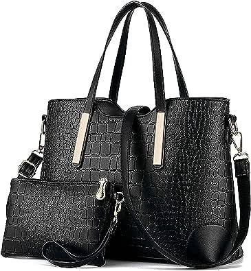 YNIQUE Handtasche Damen Groß Handtaschen Set Für Frauen Umhängetasche Taschen Shopper Reise Schultertasche 2-teiliges Set