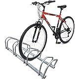 VOUNOT Râtelier vélo 4 vélos Range vélo Système Range vélo Rangement pour vélo Support pour Bicyclette Sol ou Mural en Acier