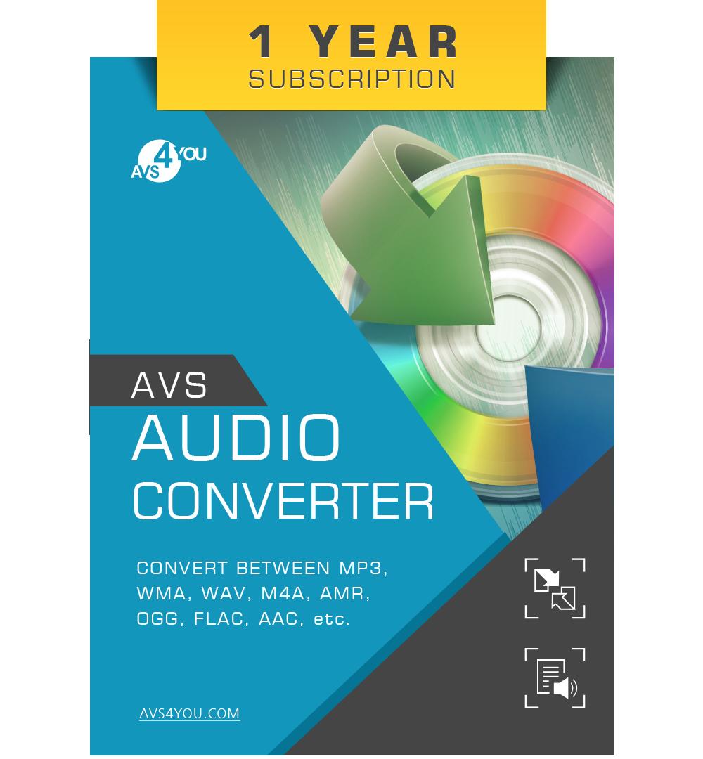 AVS Audio Converter - Ein-Jahr-Abonnement [Online Code]
