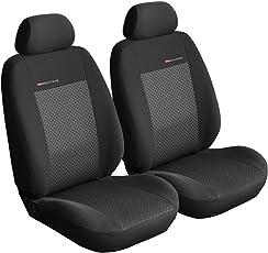 Sitzbezüge Auto Vordersitze Universal Autositzbezüge Schonbezüge Vorne Schwarz-Grau mit Airbag System - Elegance P3