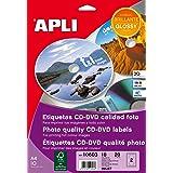 Etiquetas Adhesivas CD Calidad Foto 10 H