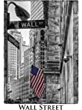 Artland Qualitätsbilder I Bild auf Leinwand Leinwandbilder Wandbilder 30 x 40 cm Städte Amerika Newyork Foto Schwarz Weiß B7NR New York Wall Street
