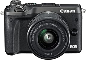 Canon EOS M6 EF-M, 15-45mm STM lens , 24.2 MP Mirrorless Digital Camera, Black