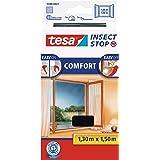 tesa Insect Stop Comfort Vliegenhor voor Ramen - Insectenhor, raamhor - Met klittenband - Snij uw eigen horraam op maat - Mug