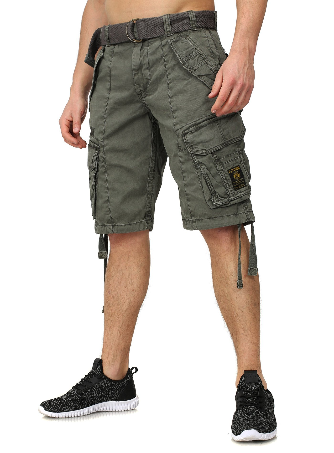 bd3becfb63a8 Trooper Cargo Shorts Lightning Edition Bundle with UD Windproof Lighter.  Geographical Norway Sweatshorts PANTERE Cargo Style mit vielen Details  Bestickungen ...