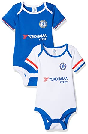 83ffb6453a1 Chelsea FC Official Unisex Baby Football Crest Bodysuit (Pack Of 2):  Amazon.co.uk: Sports & Outdoors