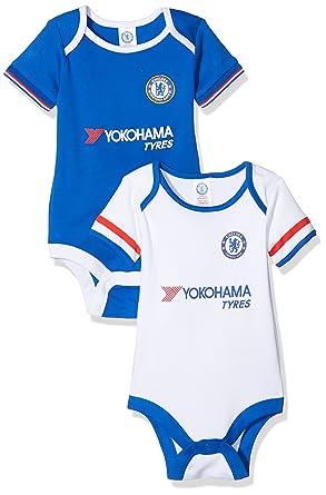 premium selection 01ffd 39ea5 Chelsea FC Official Unisex Baby Football Crest Bodysuit (Pack Of 2)