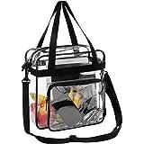 BAGAIL Clear Bag NFL & PGA Stadium Approved Tote Bags with Adjustable Shoulder Strap(Black)