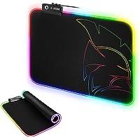EMPIRE GAMING - Dark Rainbow Tappetino Mouse Gaming-modalità di Illuminazione LED RGB 12- Mouse Pad da Gioco…