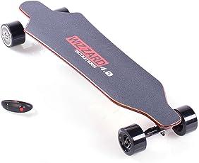Elektro Longboard Wizzard 4.0 2nd Generation, E Skateboard Elektrisches City Scooter Elektrolongboard, Reichweite Ca. 30 km, Geschwindigkeit 40km/h