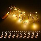 Fulighture Lampes de Bouteille,LED Bouteille Lumière,2M Lampes de per Bouteille,Fil en Cuivre Flexible,Bouteille Lumière Lièg