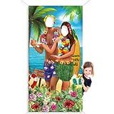 Hawaiian Aloha Party Decorations Luau Couple Photo Prop, Giant Fabric Hawaiian Luau Photo Booth Background, Funny Luau…