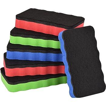 5er Pack Whiteboard Schwamm Set In Gelb Magnetisch Gr/ö/ße 110 X 52mm F/ür Trockenreinigung L/öscher Wischer Magnethaftend 5 St/ück Im Set Von Amathings