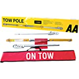 AA Rigid Steel 3 Part Tow Pole AA6165 - for Towing Cars and Vehicles up to 2 Tonnes - 1.8 m Long TUV Certified Includes…