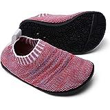 Sosenfer Calzini Pantofole da Casa Bambini Scarpe Interne a Maglia Antiscivolo per Ragazzi Ragazze Slipper Kids Unisex