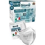 Eurocali 50 Mascherine FFP2 Certificate CE Italia Adulti | BFE ≥99% | Mascherina ffp2 SANIFICATA e sigillata singolarmente 10